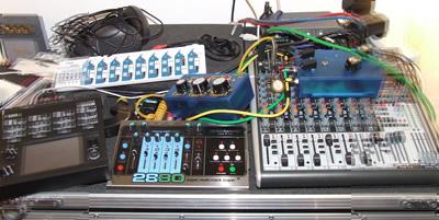 Live set-up August 2011 (less laptop)